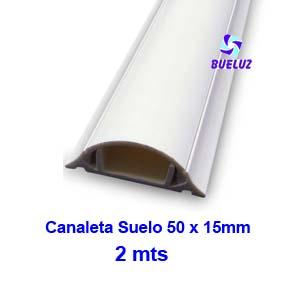 Canaleta PVC Suelo Adhesiva 50 x 15mm (2mts) Blanco -