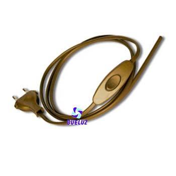 Conexión con Interruptor 1,5 mts Dorada