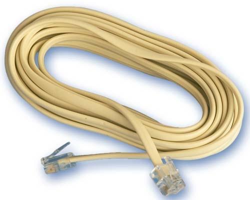 Conexion Telefono Macho-Macho RJ11 7,5 mts -