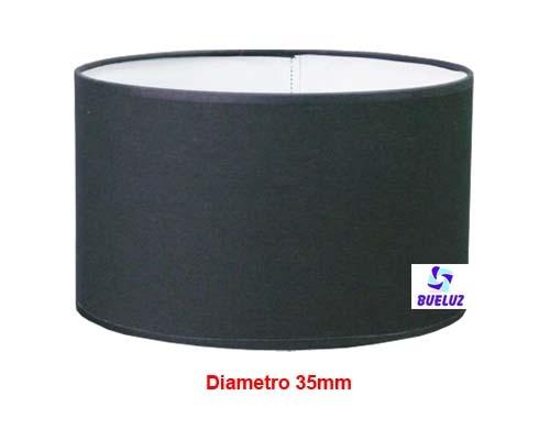 Pantalla Cilindrica Negro 35cm E-27