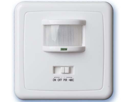 Detector movimiento Empotrar 140º Blanco -
