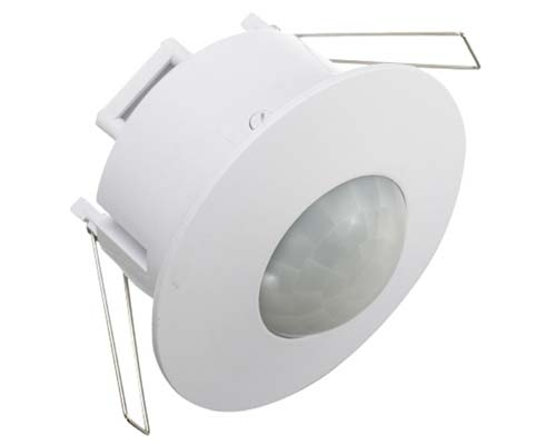 Detector movimiento Empotrar 360º Blanco (LED)