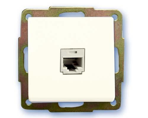Base de datos RJ45 empotrar blanco