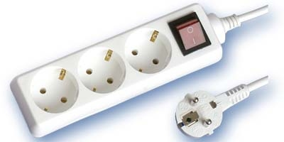 Base Multiple 3-T  T/T C/Interruptor (1,5 metros)